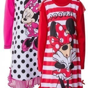 Disney Minnie Mouse Yöpaita 2 kpl Red/Pink