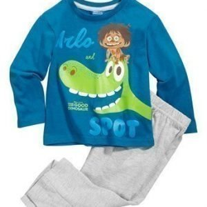 Disney The Good Dinosaur Pyjama Tummansininen Mel. harmaa