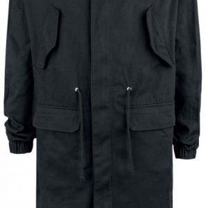 Doomsday Black Basic Coat Pitkä Talvitakki