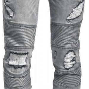 Doomsday Destroyed Biker Jeans Farkut