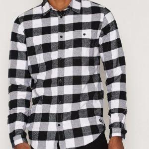 Dr Denim Chris Regular Shirt Kauluspaita Black