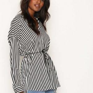 Dr Denim Grete Shirt Kauluspaita Black Stripe