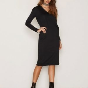 Dr Denim Ivy Hood Dress Pitkähihainen Mekko Black