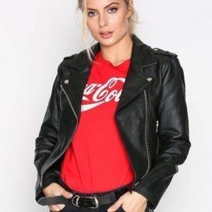Dr Denim Leia Leather Jacket Nahkatakki Black