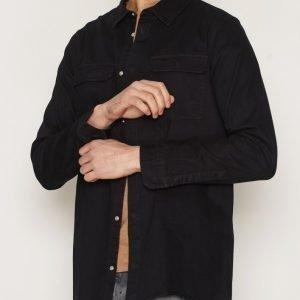 Dr Denim Max Shirt Kauluspaita Black