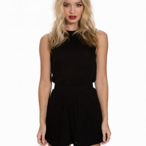 Dr Denim Solange Jumpsuit Playsuit Black