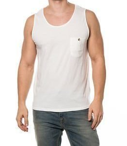 Dr. Denim Raid Singlet White