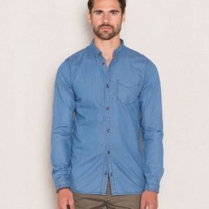 Dr.Denim Pete Shirt Light Retro Blue