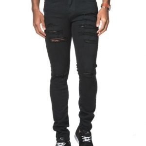 Dr.Denim Snap Black Riped