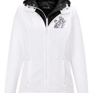 Dress In Fleecetakki Valkoinen / Musta