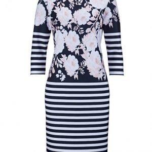 Dress In Mekko Laivastonsininen / Vanharoosa / Valkoinen