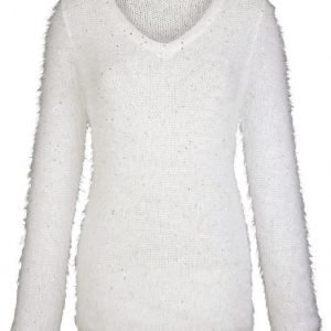 Dress In Neulepusero Ecru / Hopeanvärinen