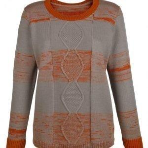 Dress In Neulepusero Harmaanruskea / Oranssi