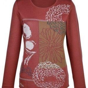 Dress In Neulepusero Tulenpunainen / Ruskea