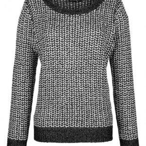 Dress In Neulepusero Valkoinen / Musta