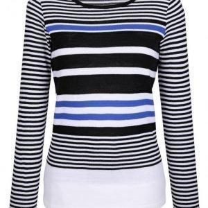 Dress In Neulepusero Valkoinen / Musta / Royalsininen
