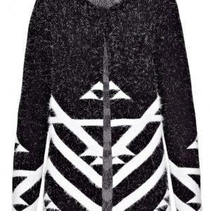 Dress In Neuletakki Musta / Valkoinen