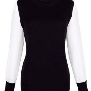 Dress In Pusero Musta / Valkoinen
