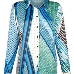 Dress In Pusero Petroli / Sininen / Valkoinen