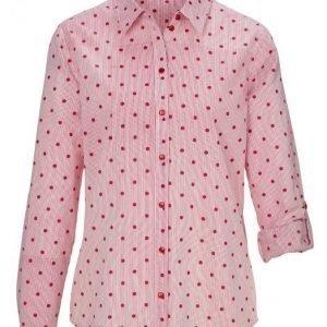 Dress In Pusero Valkoinen / Kirsikanpunainen