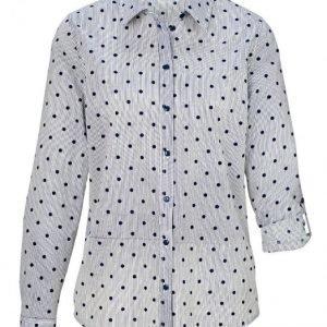 Dress In Pusero Valkoinen / Laivastonsininen