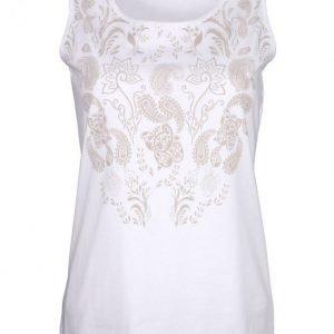 Dress In Toppi Valkoinen / Hiekka