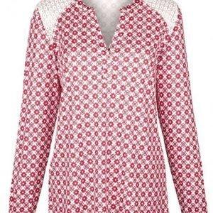 Dress In Tunika Valkoinen / Punainen