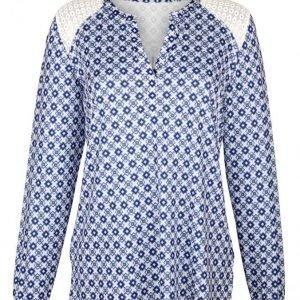 Dress In Tunika Valkoinen / Sininen