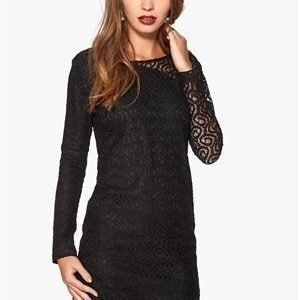 Dry Lake Brittany Short Lace Dress Black