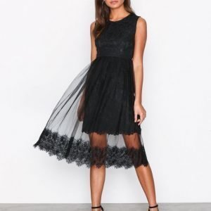 Dry Lake Cindy Dress Skater Mekko Black Lace