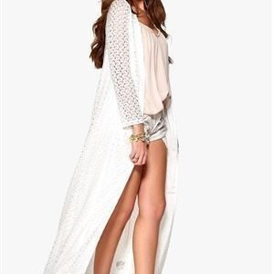 Dry Lake Desire Long Cardigan White