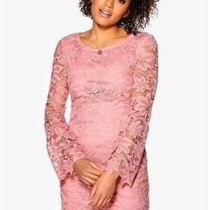 Dry Lake Fleur Lace Dress Pink
