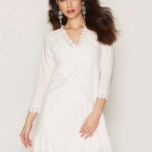 Dry Lake Jardin Sleeve Dress Loose Fit Mekko White