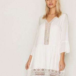Dry Lake Lovely Sleeve Dress Loose Fit Mekko Offwhite