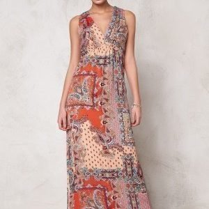 Dry Lake Max Long Dress Orange Summer Sky