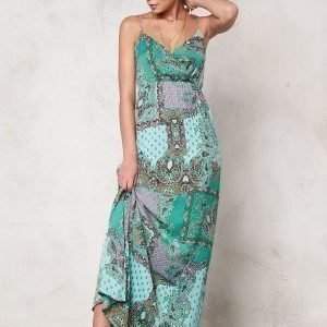 Dry Lake Mix Long Strap Dress Green It