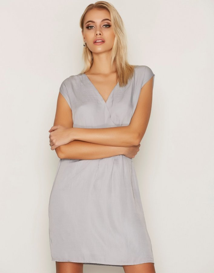 Dry Lake Sunkissed Dress Loose Fit Mekko Light Grey