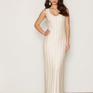 Dry Lake Valentine Long Dress Maksimekko Beige