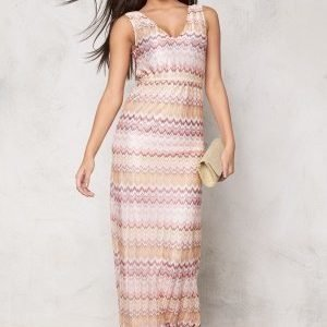 Dry Lake Ziczac Long Dress Pink Sunset