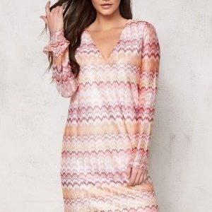 Dry Lake Ziczac Short Dress Pink Sunset