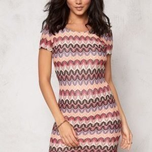 Dry Lake Ziczac Short Sleeve Dress Multi