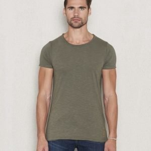 Dstrezzed Basic Crew Slub Tee Army Green