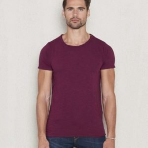 Dstrezzed Basic Crew Slub Tee Dark Red