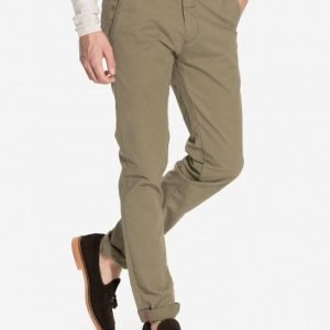 Dstrezzed Chino Pant belt Stretch T Chinot Army Green