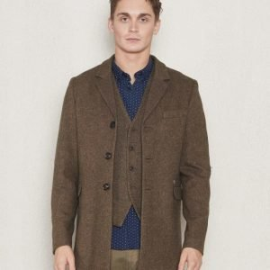 Dstrezzed Coat Wool Tweed Coffe Melange