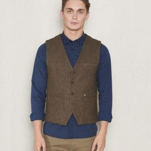 Dstrezzed Gilet Wool Tweed Coffe Melange