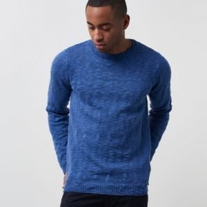 Dstrezzed Round Neck Linen Blend Royal Blue