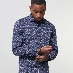 Dstrezzed Shirt Multi Flower Royal Blue