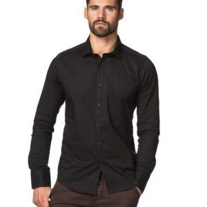 Dstrezzed Stretch Poplin Shirt Black