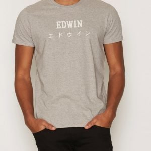 Edwin Edwin Japan TS Cotton T-paita Grey Melange